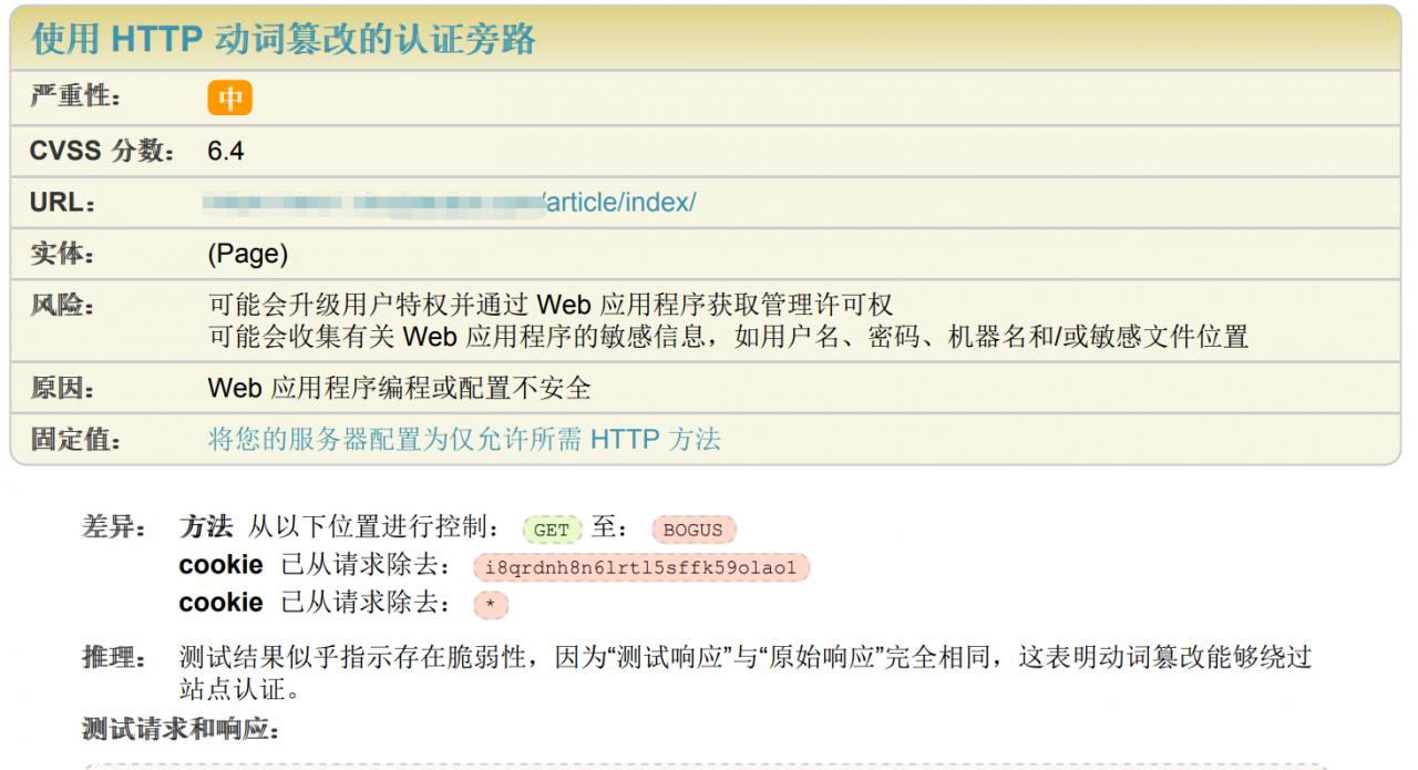 使用HTTP动词篡改的认证旁路